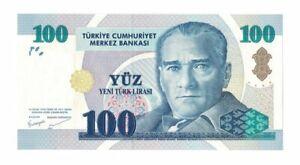 TURKEY 100 LIRA 2005 P 221. UNC