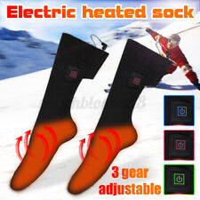 Electric Battery Heated Socks Feet Thermal Winter Warmer Heater Foot Shoe Boot