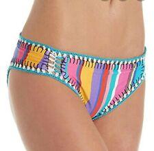 Nanette Lepore Women's side shirred Hipster bikini swimsuit bottom medium