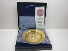 """""""Freedom And Justice Soaring"""" 24K Gold Plate On Copper"""