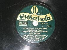 78rpm/MINI 20cm/Orchestrola 2404/NAT LEWIS/MICKEY MOUSE/STILL MEIN KLEINES BABY