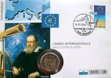 """2 EURO Numisbrief """"Galileo Galilei"""" San Marino 2005"""