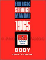 1965 Buick Special and Skylark Body Repair Shop Manual Service Book Sportwagon