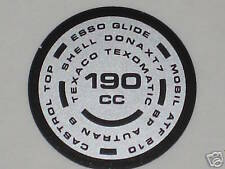 TRIUMPH T140 TR7 foil DECAL 190cc fork top oil Esso lube 97-4259 OIF 190