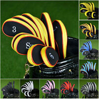 10pcs Neoprene Golf Iron Headcover Golf Club Cover Sleeve Protective Case Set