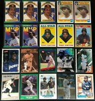 Tony Gwynn -20 Cards,1986-2020,Topps Gold Label,Donruss,Fleer,- San Diego Padres
