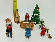 Six Department 56 & Two Other Winter Figurines Lot of 8