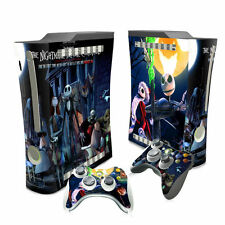 XBOX 360 Skin Sticker Decal Cover + 2 Controllers NIGHTMARE BEFORE CHRISTMAS