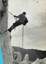 PHOTO ORIGINALE + ALPINISME + ESCALADE en montagne + Piolet, cordes, crampons