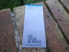 LES ETAINS DU PRINCE CATALOGUE n° 4 assez rare, COMME NEUF, voir photos.