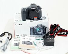 Canon EOS 60D 18.0 MP Digital SLR Camera Body ONLY 25k SHUTTER COUNT