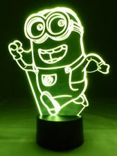 originelle 3D LED-Lampe Minion