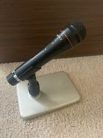 Sony F-BM7 Dynamic Microphone W/ Mic Holder & Sony A-25 Microphone Table Stand