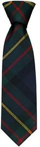 Clan Tie MacLaren Modern Tartan Pure Wool Scottish Handmade Necktie