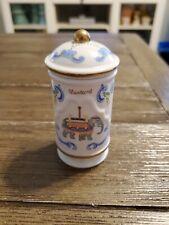 Lenox Carousel Spice Jar - Mustard - with Lid - 1993