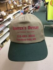 trucker hat baseball cap HUNTER'S OUTLET THIEF RIVER FALLS cool lid old school