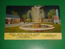 ZT300 Vintage 1957 Postcard South Winds Motor Court Rt 66 Springfield MO