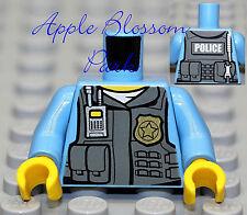 NEW Lego Police Medium Blue MINIFIG TORSO Male Agent Officer Tactical Vest Badge