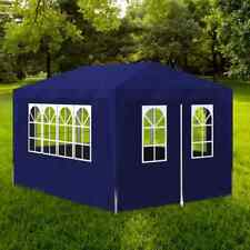 vidaXL Party Tent 3x4m with 4 Walls Blue Patio Garden Gazebo Marquee Pavilion