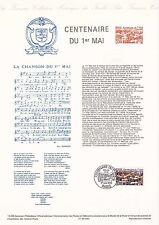 Document Philatélique Timbre 1er Jour : 01/05/ 1990 - Centenaire du 1er Mai