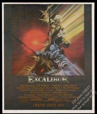 1981 Excalibur movie release John Boorman Helen Mirren vintage print ad
