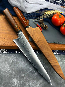 Japanese Style Kiritsuke Knife VG10 Damascus Chef Knife Kitchen Gyuto w/ Sheath