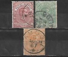 ITALY STAMPS #Q3-Q5 SHORT SET (USED) FROM 1884-86