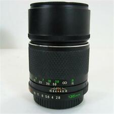 Sears Sekor CS Mamiya 135mm Lens 1:2.8 52mm Thread Model #649 w/ Caps Both Ends