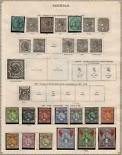 ZANZIBAR: 1895-1904 Examples - Ex-Old Time Collection - 2 Sides Page (35006)