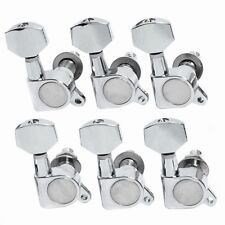 More details for guitar string tuning pegs 6r tuners machine heads for electric acoustic chrome
