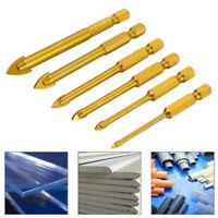 6 Pcs Hex Shank Ceramic Tile Glass Drill Bits Set For Chucks Bit Holder 3-10mm
