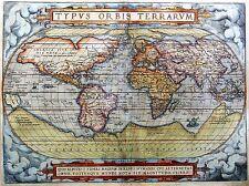 ART PRINT Poster Carte Vieux Monde Globe Continent Ocean nofl0710