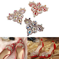 1PC Crystal Rhinestones Shoe Clips Women Bridal Prom Shoes Buckle Decor ZP
