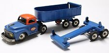 SSS Made in Japan Tin toy truck vintage Friction 1960s 1950s Lumber  AND Dump