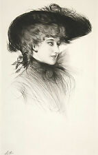 Paul Cesar Helleu Reproduction: Bust of a Woman - Fine Art Print