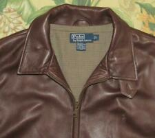 Mens Polo RALPH LAUREN Brown Soft Leather Jacket Large L