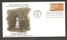 US SC # 1357 Daniel Boone FDC. Frankfort - Franklin County Chamber Of Commerce