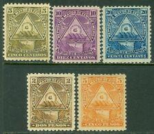 EDW1949SELL : NICARAGUA 1898 Scott #102-03, 05, 08-09 VF, Mint OG Catalog $109.