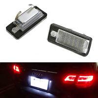 2pcs License Plate Rear Bumper Lights LED Lamps for Audi A3 A4 B6 B7 A6 C6 S6 A8