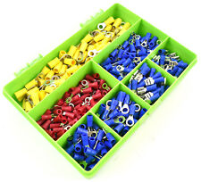 500 ASSORTED PIECE INSULATED ELECTRICAL TERMINALS CRIMP CONNECTORS RING WIRE KIT