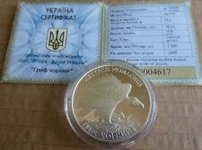 10 UAH Eurasian Black Vulture Flora and Fauna Proof Silver ,Ukraine Coine,