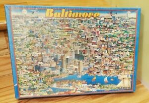 Vintage 1990 City of Baltimore Buffalo Games 504 Piece Puzzle SEALED
