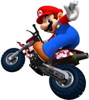 CHOOSE YOUR SIZE- SUPER MARIO KART ON BIKE Decal Removable WALL STICKER