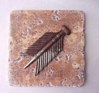 Arrow feather mold plaster cement  plastic travertine tile mould