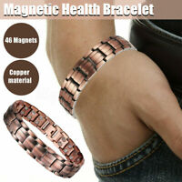 Magnets Health Bracelet Pure Solid Copper Magnetic 42 Double Row Men Arthritis