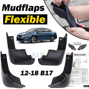 4x For Nissan Sentra Pulsar Sylphy B17 13-18 Front Rear Mud Flaps Splash Guards