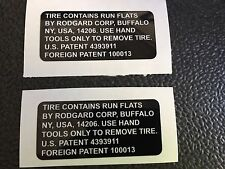MILITARY LAND ROVER WOLF WMIK SNATCH DEFENDER 90 110 Run Flat Tire Warning X2