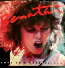 PAT BENATAR Love Is A Battlefield / Hell Is For Children (7in 45rpm +PS) EX