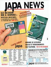 Publicité Advertising 117  1987   Japa le catalogue cuir carte Aurore