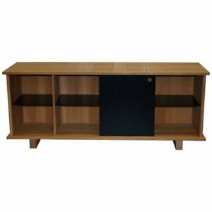 IMPRESSIVE RALPH LAUREN SIDEBOARD CONSOLE SLATE STONE DOOR AND SHELVES REDWOOD